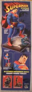 SUPERMAN STATUE Promo Poster, 11x34, 2004, Unused, more in our store