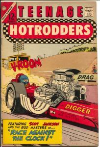 Teenage Hotrodders #21 1966-Charlton-NHRA Drag Race cover-FN