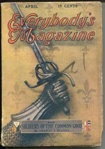 Everybody's Magazine 4/1927-Rex Beach-Hugh Pendexter-J.M. Flagg-FN