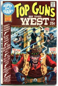 Super DC Giant TOP GUNS of the WEST #S-14, VF-, Gunfights, Sheriff, Western,1970