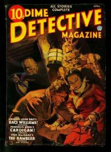 Dime Detective Pulp April 1936- Race Williams- Cornell Woolrich- G