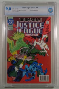 Justice League America #69 2nd Appearance Doomsday CBCS 9.0 White Pages DC