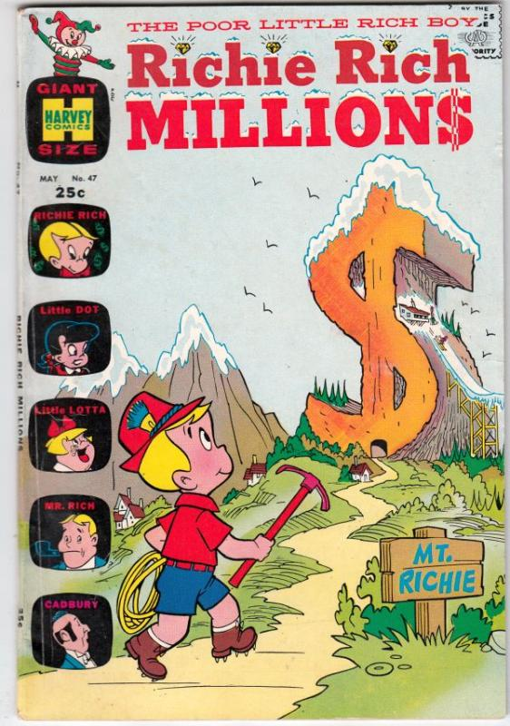 Richie Rich Millions #47 (May-71) VF+ High-Grade Richie Rich