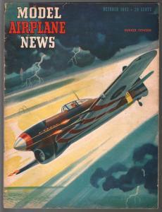 Model Airplane News 10/1943Hawker Typhoon-WWII era-pix-diagrams-VG