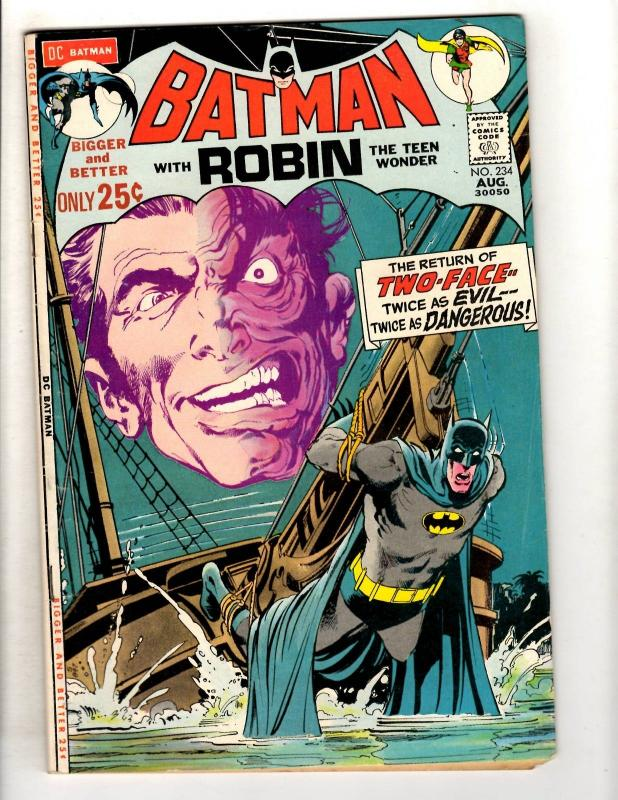 Batman # 234 FN DC Comic Book Two-Face Neal Adams Gotham Robin Joker JL11