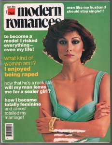 Modern Romances 4/1976-Dell-exploitation magazine-spicy pulp stories-pin-ups-VG
