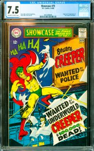 Showcase #73 CGC Graded 7.5 Origin and 1st appearance of the Creeper (Jack Ry...