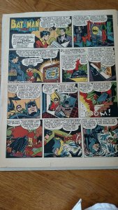 Batman Newspaper Comics Clipping