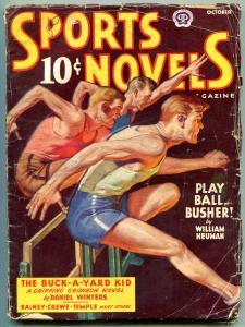 Sports Novels Pulp October 1943- Daniel Winters- William Heuman VG