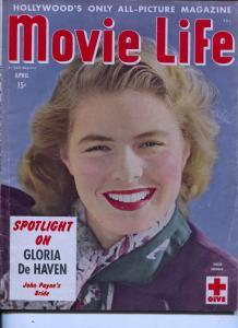 Movie Life-Ingrid Bergman-Dinah Shore-Cornel Wilde-Gloria DeHaven-Apr-1943