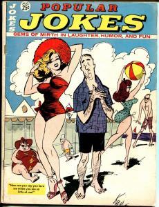 Popular Jokes 8/1964-Marvel-swimsuit cover-Dave Berg-Jack Lohr-VG