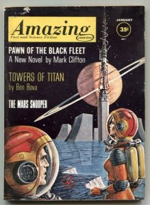 Amazing Stories January 1962- Pawn of the Black Fleet VG