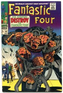 FANTASTIC FOUR #68 comic book 1968 MARVEL COMICS  KIRBY VF-