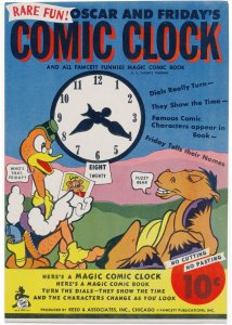 Oscar and Fridays Comic Clock (1945 Fawcett) and Fun Farm VG/FN