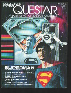 Questar #3 1979-Steve Ditko Comic stories-3 Superman's cover-Battlestar Galac...