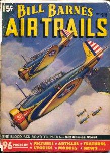 Bill Barnes Air Trails 9/1936-hero pulp-Frank Tinsley air war cover-The Blood...