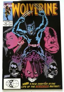 Wolverine #31 Marvel 1990 NM- Copper Age 1st Printing Comic Book