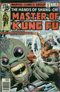 Master of Kung Fu (1974 series) #75, VF+ (Stock photo)