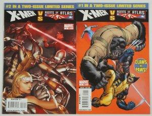 X-Men vs. Agents of Atlas #1-2 VF/NM complete series - marvel comics wolverine