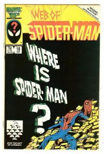 Web Of Spiderman 18   1st cameo Venom