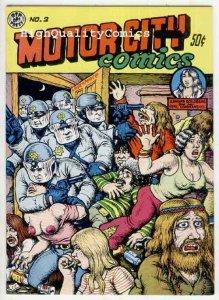 MOTOR CITY COMICS #2, VF+, Underground, 1970, Robert Crumb, more UG in store