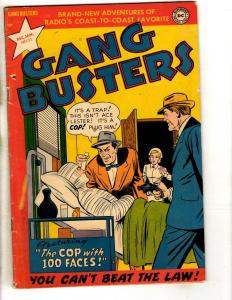 Gang Busters # 25 FN- DC Golden Age Comic Book Cop With 1000 Faces JL3