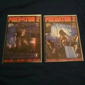 Predator 2 #1 & 2 (1991 Dark Horse) VF/NM