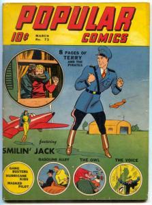 Popular Comics #731942- Smokey Stover- Owl- Terry &  Pirates FN-