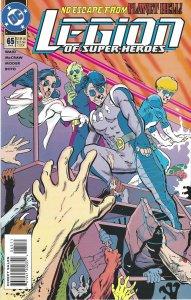 Legion of Super-Heroes #65 (Feb 95) - Braniac 5, Saturn Girl - DC Comics