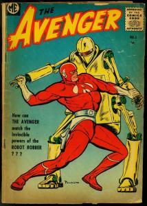 The Avenger #3 1955- robot cover- Bob Powell VG-