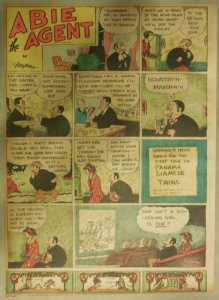 Abie The Agent Sunday Page by Hershfield from 9/5/1937 Tabloid Size: 11 x 15