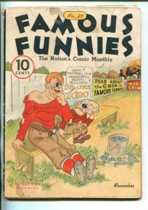FAMOUS FUNNIES #28-1936-BUCK JONES-WAR ON CRIME-MICKEY FINN-good