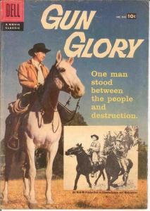 GUN GLORY F.C. 846 VG TOTH ART   1957 COMICS BOOK