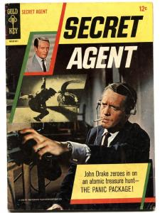 SECRET AGENT #1 comic book 1966-GOLD KEY-1ST ISSUE-PATRICK MCGOOHAN-TV SERIES