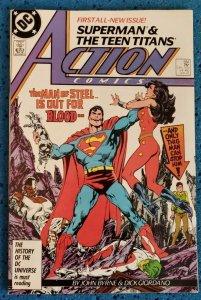 Action Comics #584 (DC, 1987) VF- 7.5 John Byrne, 1st Superman (Post-Crisis)