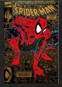 Spider-Man (1990) #1 VF/NM 9.0 Torment! Todd McFarlane! Second Print Gold!