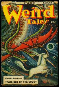 Weird Tales Pulp July 1948- Matt Fox cover- Edmond Hamilton G+