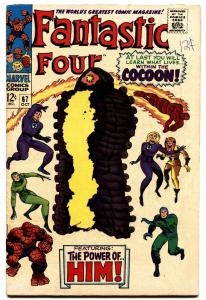 FANTASTIC FOUR #67-1967-COCCOON COVER -first warlock/him!