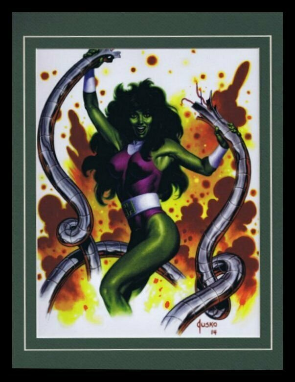 She Hulk Framed 11x14 Marvel Masterpieces Poster Display Disney+