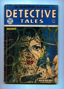 DETECTIVE TALES AUGUST 1954-POPULAR PUBLISHING-JOHN D. MACDONALD-VG