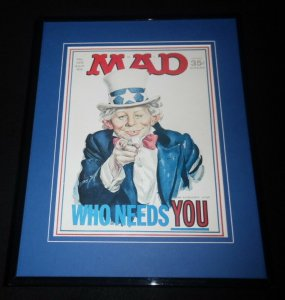 Mad Magazine #126 April 1969 Framed 11x14 Cover Display Neuman as Uncle Sam