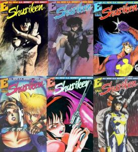 SHURIKEN (1991 ET) 1-6  COMPLETE!!! COMICS BOOK