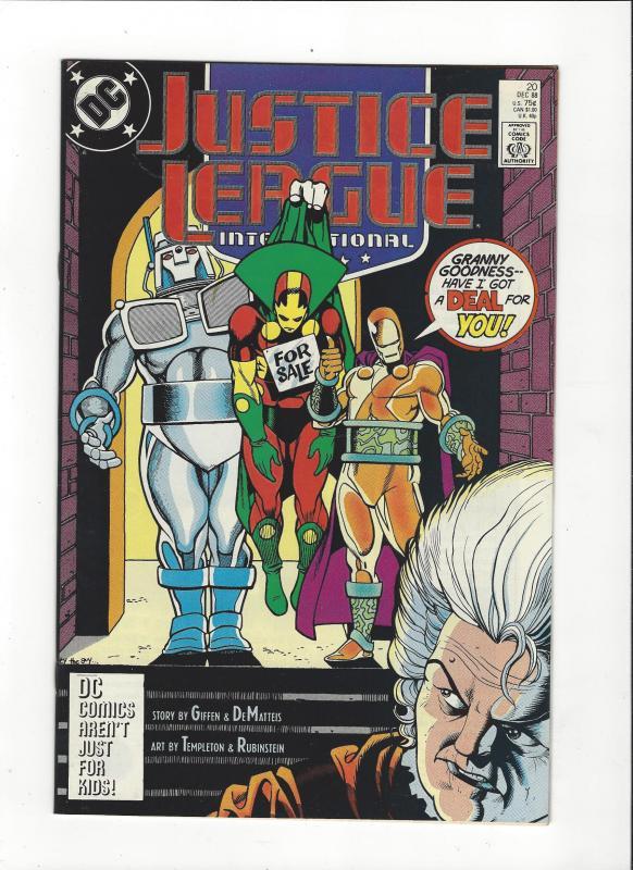 Justice League International #20 1987 DC Comics Copper Age  NM