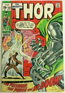 THOR#182 FN 1970 VS DR. DOOM MARVEL BRONZE AGE COMICS