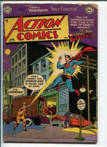 ACTION #181 1953-DC-SUPERMAN-VIGILANTE-CONGO BILL-THREE ACES-vg