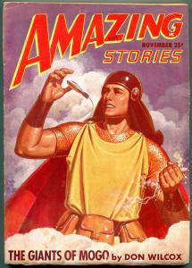 Amazing Stories Pulp November 1947- Giants of Mogo FN