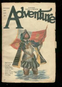 ADVENTURE PULP-OCT 18 1920-CONQUISTADOR COVER-WC TUTTLE G/VG