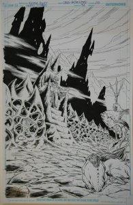 NICOLA SCOTT / DOUG HAZLEWOOD original art, TEEN TITANS #94, pg 20,11x17, Splash