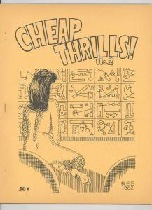 CHEAP THRILLS #2 RARE ORIGINAL FANZINE .1968. NUDE SF COVER JACK GAUGHAN H VF++