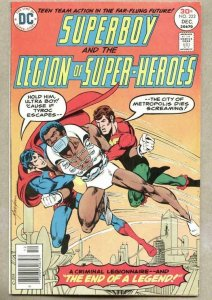 SUPERBOY and the LEGION of SUPER-HEROES #222, FN/VF, Mike Grell, TyRoc, DC, 1976